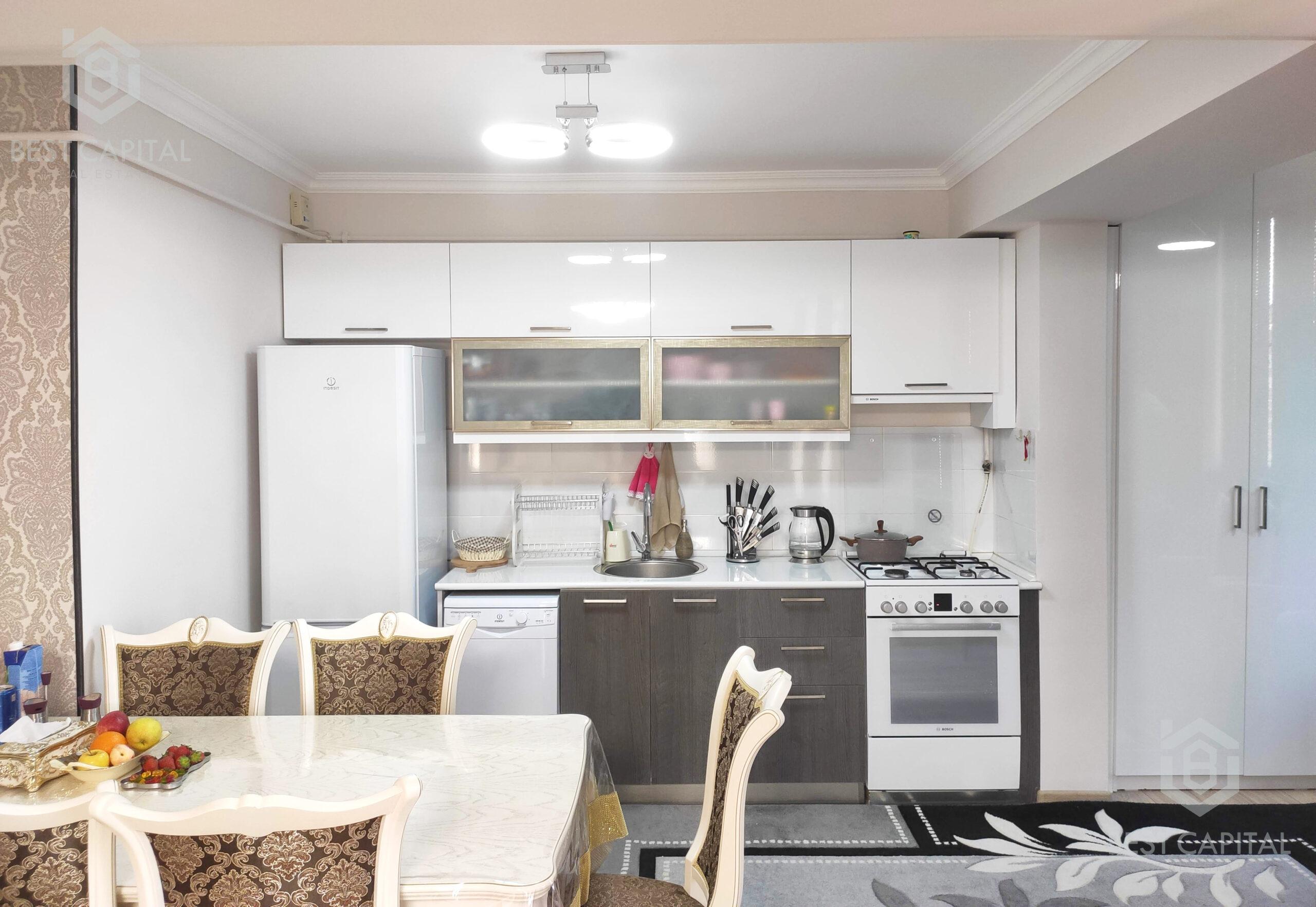 Գեղեցիկ լուծումներով կահավորված, բաց պատշգամբներով, LUXE դասի բնակարան